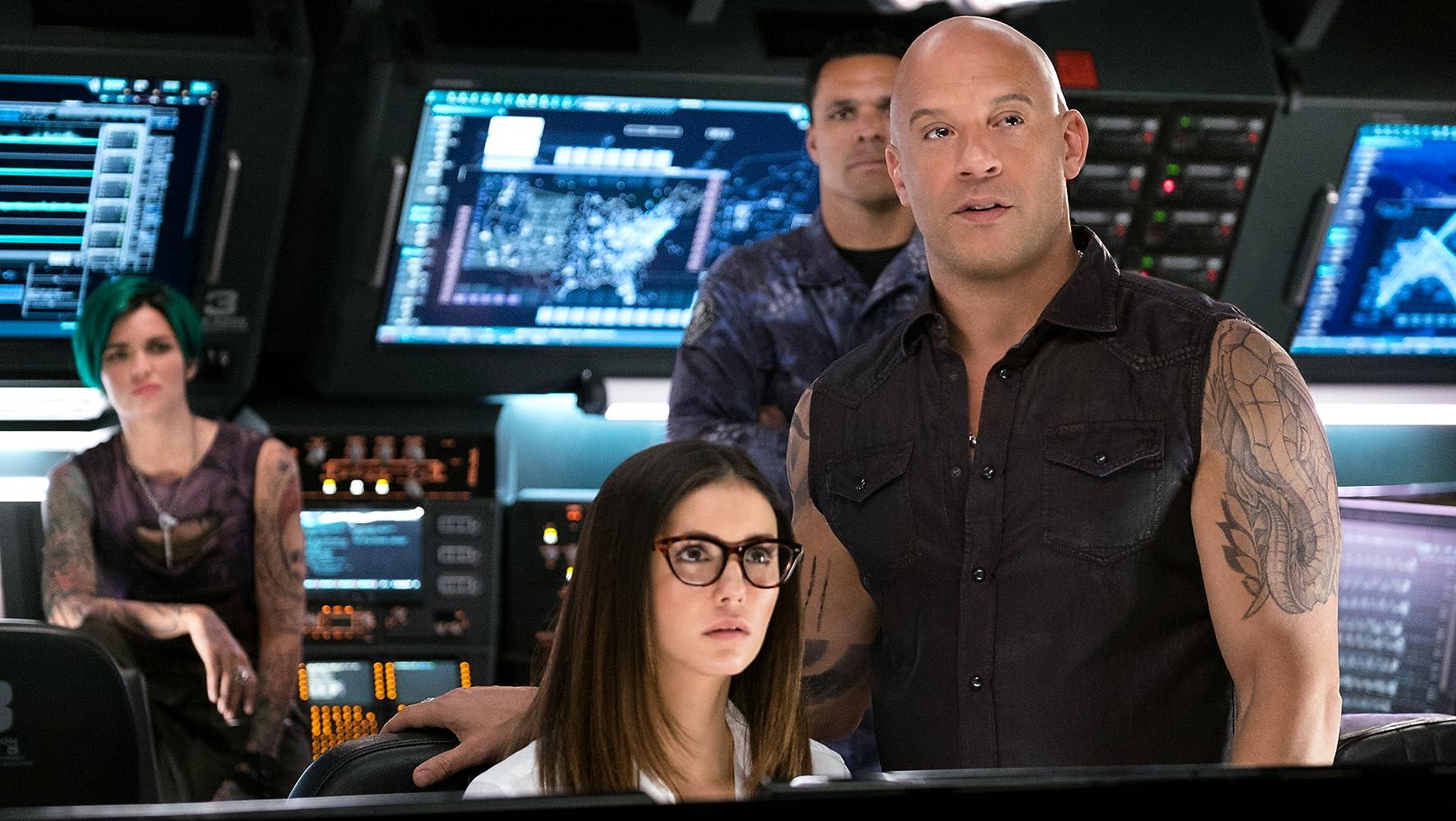 Vin Diesel, Tony Gonzalez, Nina Dobrev, and Ruby Rose in xXx: Return of Xander Cage (2017)