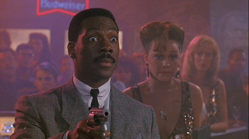 Still from Another 48 Hrs. with Eddie Murphy and Cathy Haase.