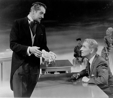 """""""The Story Of Mankind,"""" Vincent Price and Ronald Colman. 1957 Warner Bros."""