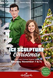 Ice Sculpture Christmas Poster