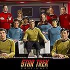 Wyatt Lenhart (Chekov), Grant Imahara (Sulu), Chuck Huber (McCoy), Vic Mignogna (Kirk), Todd Haberkorn (Spock), Kim Stinger (Uhura), Michele Specht (McKennah), Steven Dengler (Drake), Kipleigh Brown (Smith), Cat Roberts (Palmer), Chris Doohan (Scotty)