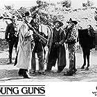 Emilio Estevez, Kiefer Sutherland, Lou Diamond Phillips, and Casey Siemaszko in Young Guns (1988)