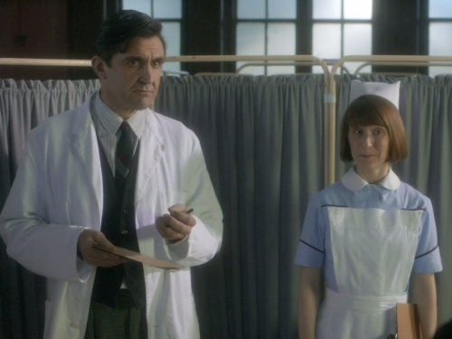 Stephen McGann and Bryony Hannah in Call the Midwife (2012)
