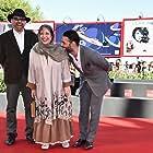 Rakhshan Banietemad, Habib Rezaei, and Payman Maadi at an event for Ghesse-ha (2014)