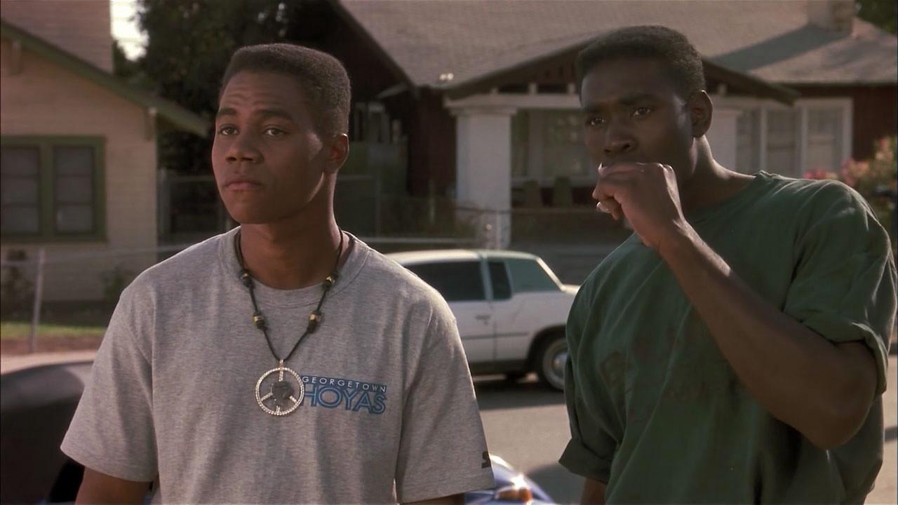 Cuba Gooding Jr. and Morris Chestnut in Boyz n the Hood (1991)