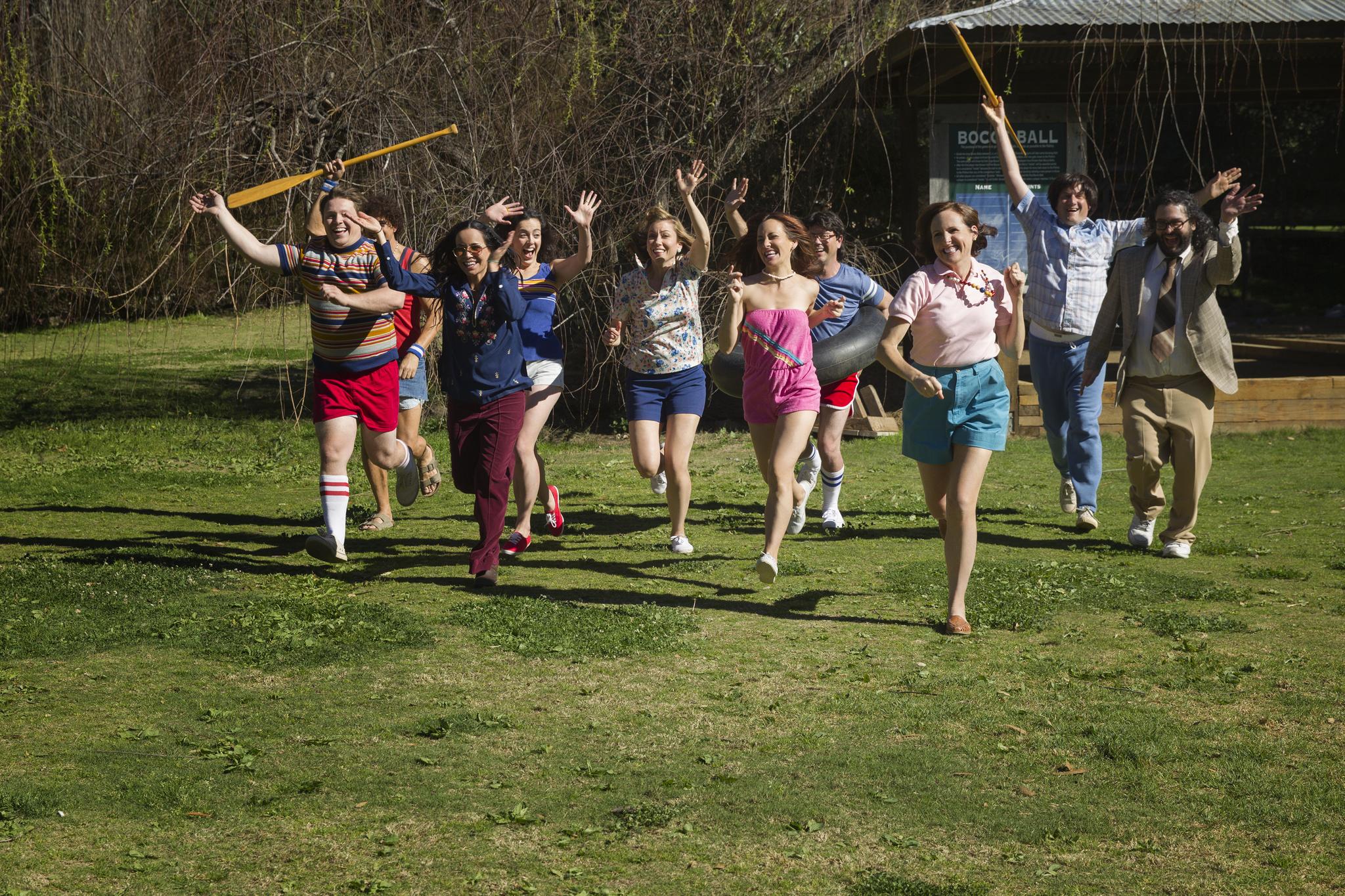 Judah Friedlander, Nina Hellman, Joe Lo Truglio, Molly Shannon, and Michael Showalter in Wet Hot American Summer: First Day of Camp (2015)