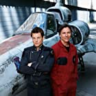 Jamie Bamber and Richard Hatch in Battlestar Galactica (2004)