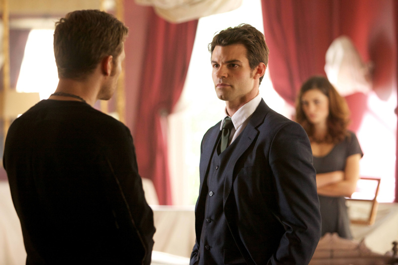 Daniel Gillies, Joseph Morgan, and Phoebe Tonkin in The Originals (2013)