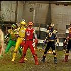 Pua Magasiva, Glenn McMillan, Jorge Vargas, Jason Chan, and Adam Tuominen in Power Rangers Ninja Storm (2003)