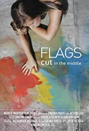 Flags Cut in the Middle Poster