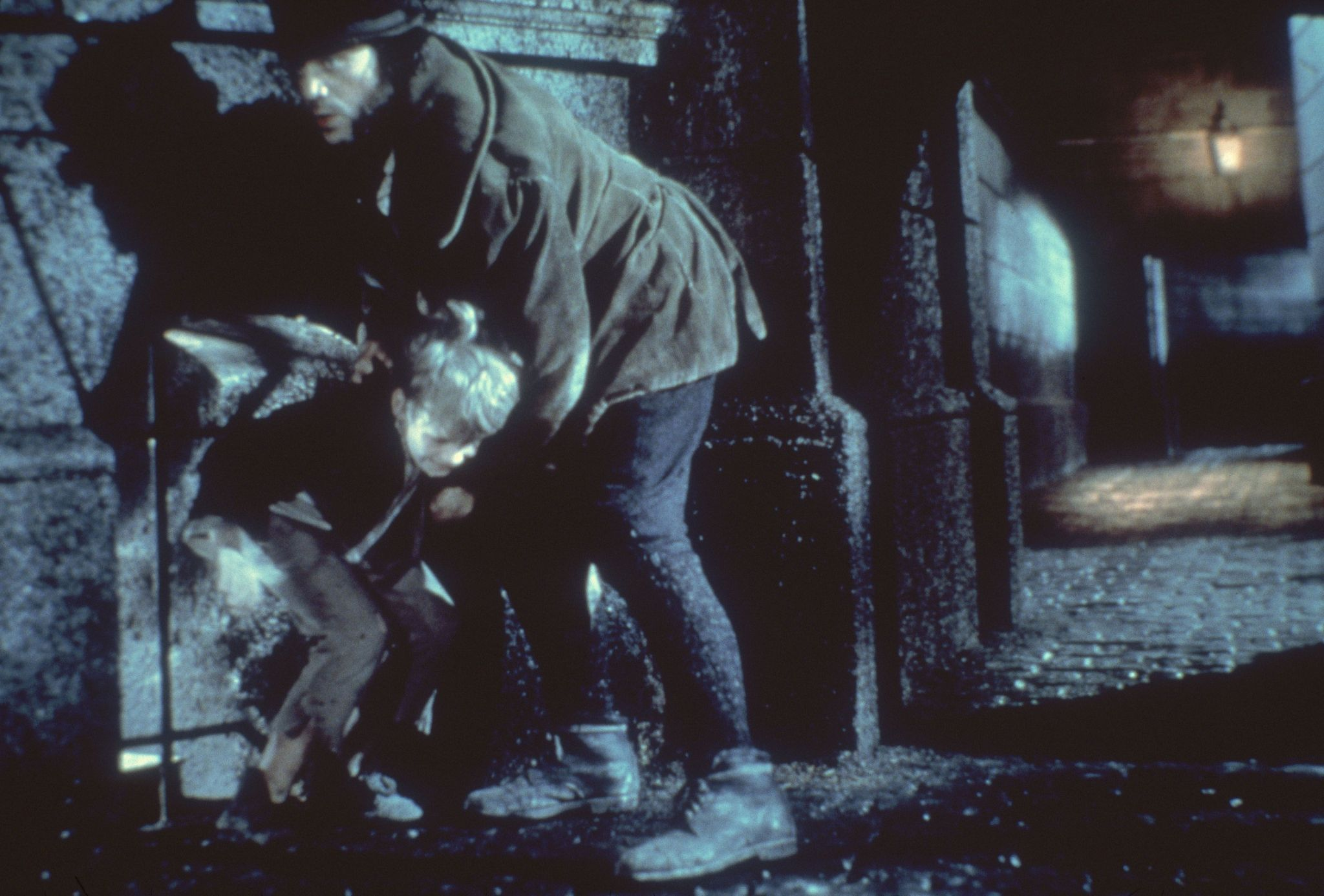 Oliver Reed and Mark Lester in Oliver! (1968)