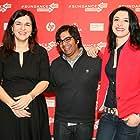 Sudeep Sharma, Tinatin Gurchiani, and Tamar Gurchiani at an event for Manqana, romelic kvelafers gaaqrobs (2012)