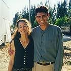"Deborah Smith Ford and Nick Brimble on the set of ""Gone Fishin'"""