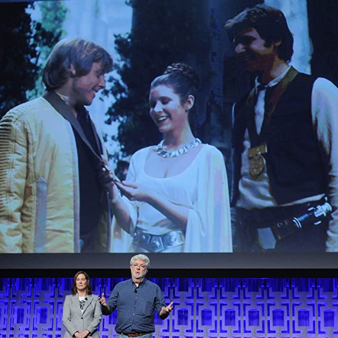 George Lucas and Kathleen Kennedy