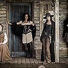 Aaron Poole, Melissa Farman, Tattiawna Jones, and Cara Gee in Strange Empire (2014)