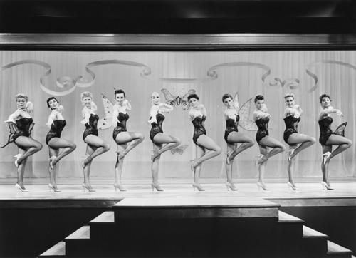 Vivian Blaine Veda Ann Borg Barbara Brent Jann Darlyn Madelyn Darrow June Kirby Pat Sheehan Larri Thomas Sandra Warner Sonia Warner and The Goldwyn Girls in Guys and Dolls 1955