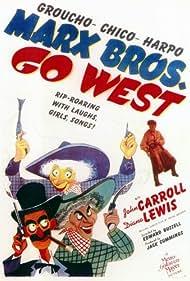 Groucho Marx, Diana Lewis, Chico Marx, and Harpo Marx in Go West (1940)