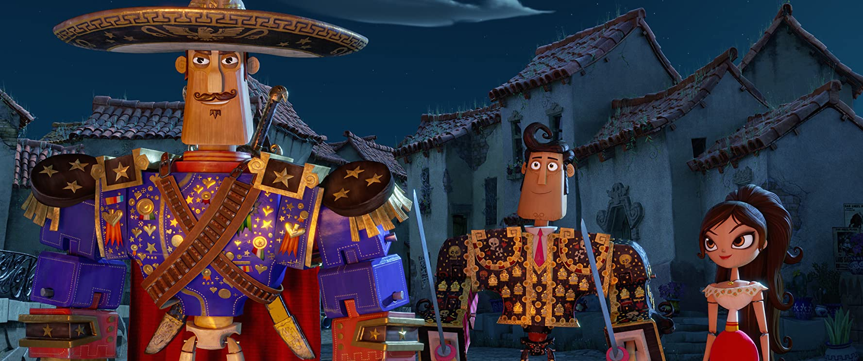 Diego Luna, Zoe Saldana, and Channing Tatum in The Book of Life (2014)