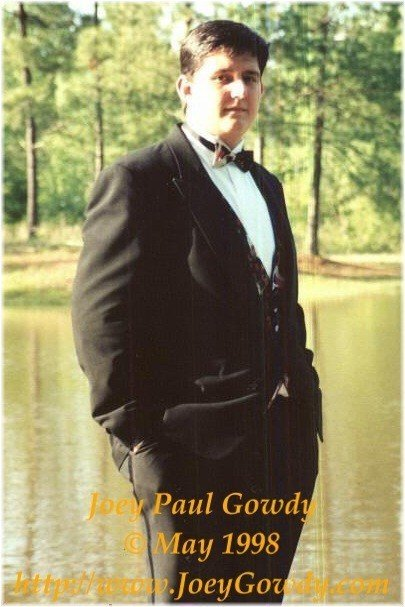 Joey Gowdy in 1998 posing at his parents lake before the Hickory Flat Junior Prom.