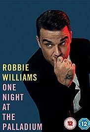 Robbie Williams One Night at the Palladium Poster