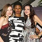 Marieh Delfino, Emayatzy Corinealdi, and Lindsay Burdge at an event for The Invitation (2015)