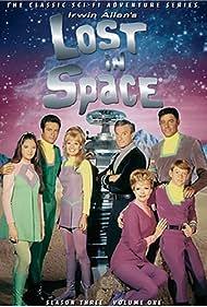 June Lockhart, Angela Cartwright, Mark Goddard, Jonathan Harris, Marta Kristen, Bill Mumy, and Guy Williams in Lost in Space (1965)
