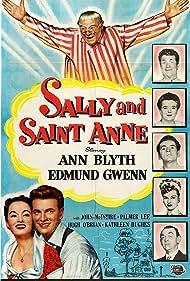 Ann Blyth, Frances Bavier, Edmund Gwenn, Kathleen Hughes, Otto Hulett, John McIntire, Hugh O'Brian, and Gregg Palmer in Sally and Saint Anne (1952)