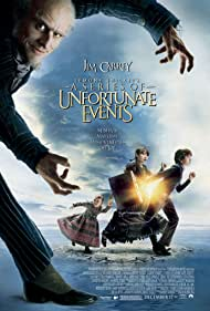 Jim Carrey, Liam Aiken, Emily Browning, Shelby Hoffman, and Kara Hoffman in A Series of Unfortunate Events (2004)