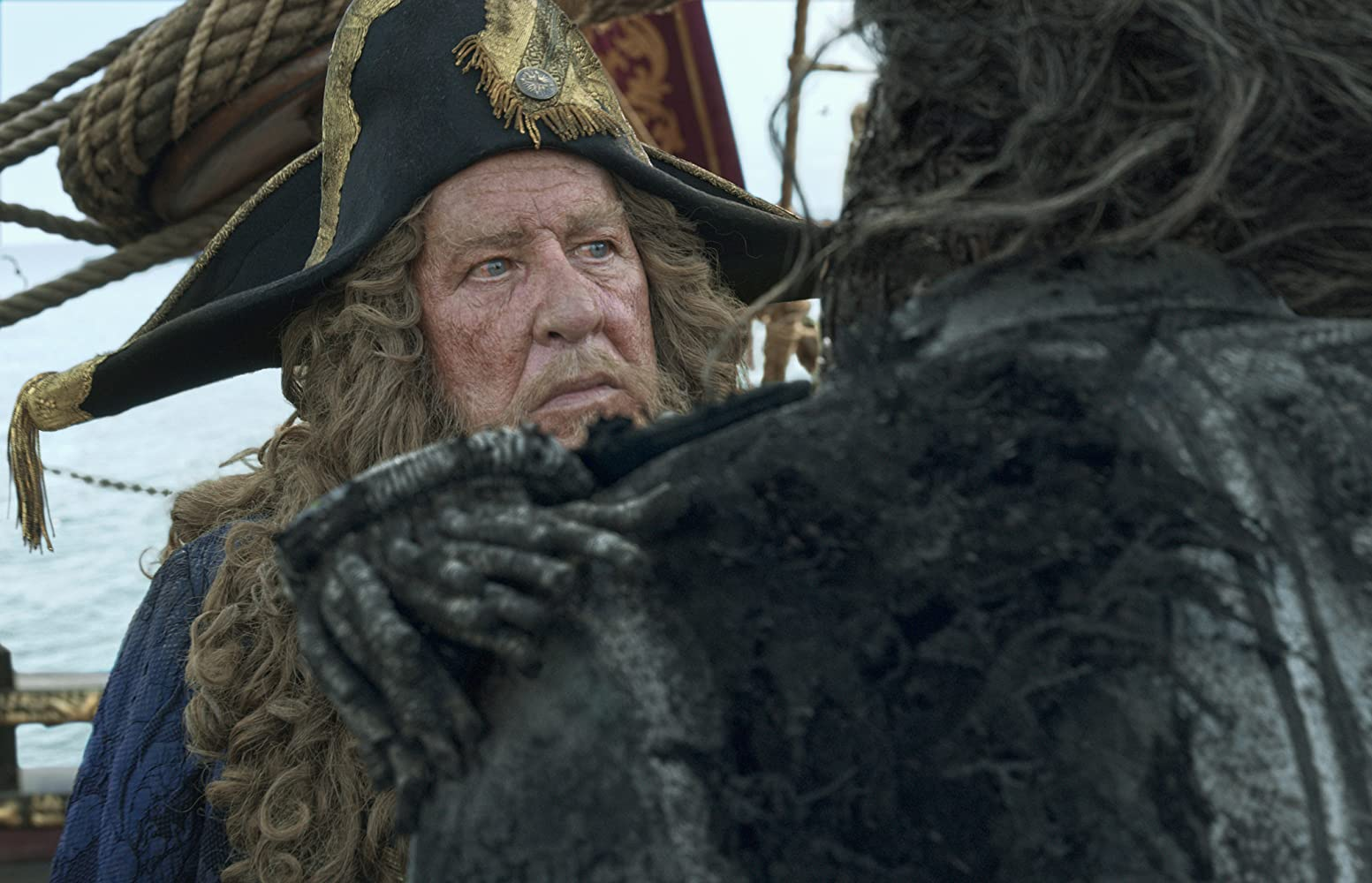Javier Bardem and Geoffrey Rush in Pirates of the Caribbean: Dead Men Tell No Tales (2017)