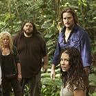 Emilie de Ravin, Jorge Garcia, Josh Holloway, and Evangeline Lilly in Lost (2004)