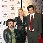 Elizabeth Banks, Peter Dinklage, and Michael Showalter at an event for The Baxter (2005)