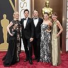 Hanne Jacobsen, Mads Mikkelsen, Thomas Vinterberg, and Helene Reingaard Neumann at an event for The 2014 Academy Awards (2014)