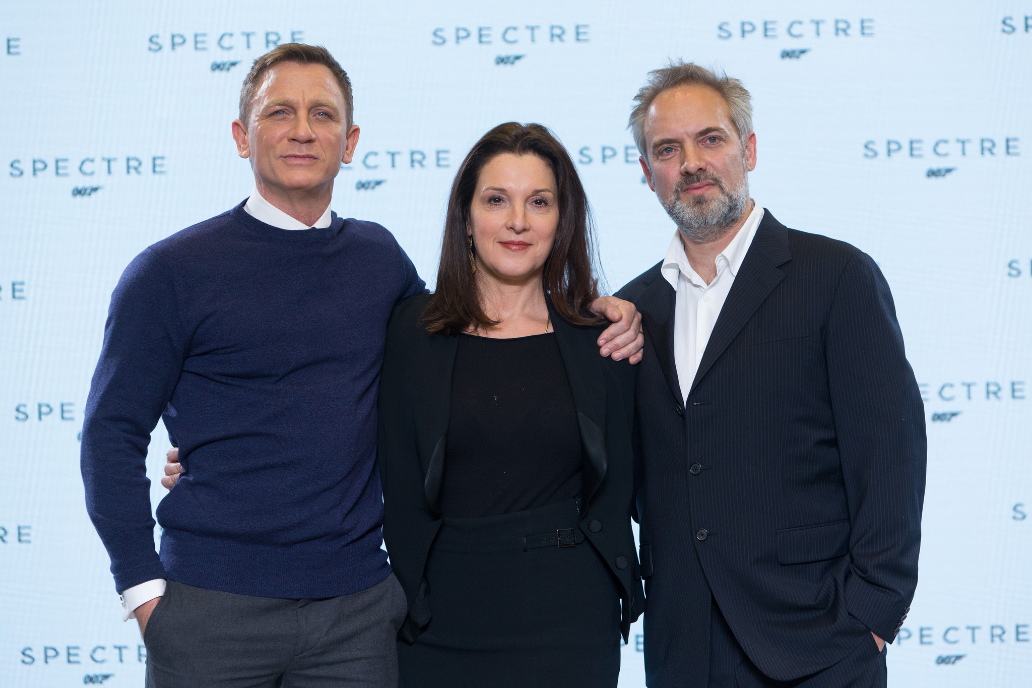 Sam Mendes, Barbara Broccoli, and Daniel Craig at an event for Spectre (2015)