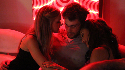 Still of Brianne Howey, Levi Fiehler and Lindsey Morgan in E.T.X.R. (2013)