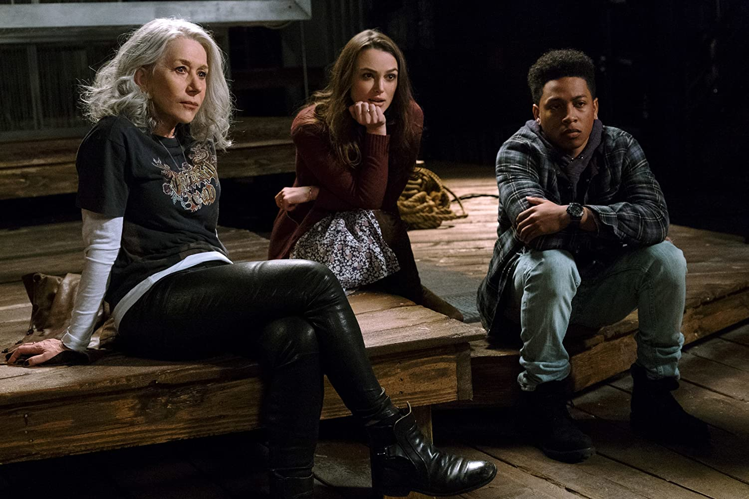 Helen Mirren, Keira Knightley, and Jacob Latimore in Collateral Beauty (2016)
