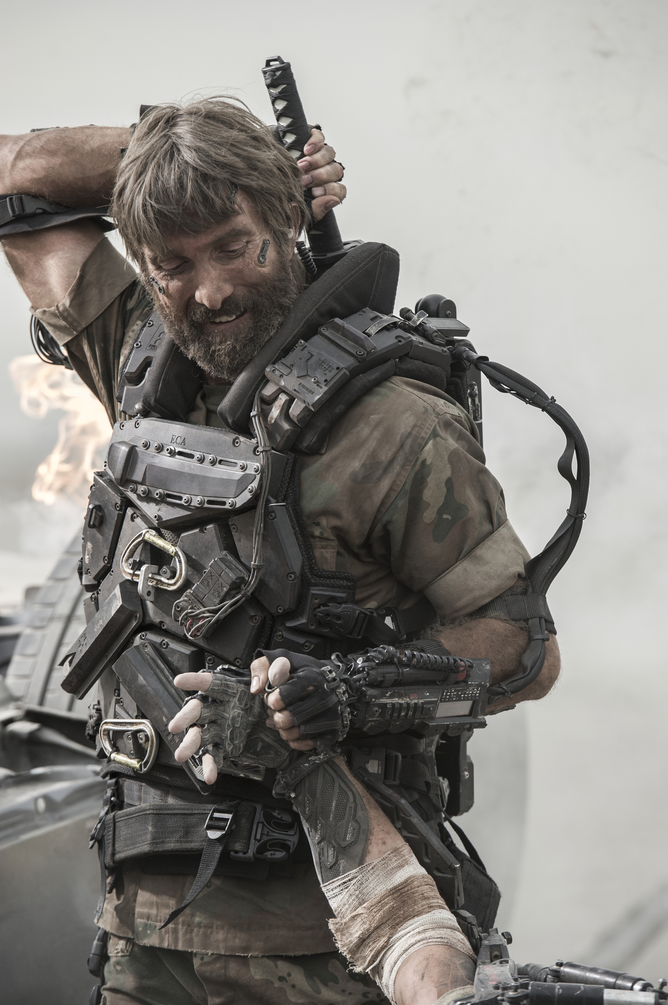 Sharlto Copley in Elysium (2013)
