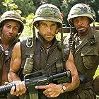 Robert Downey Jr., Ben Stiller, and Brandon T. Jackson in Tropic Thunder (2008)