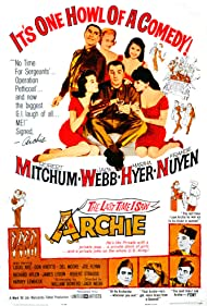 Robert Mitchum, Martha Hyer, France Nuyen, Louis Nye, and Jack Webb in The Last Time I Saw Archie (1961)