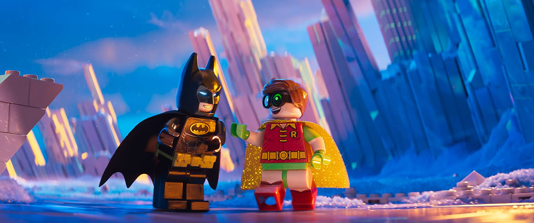 Will Arnett and Michael Cera in The Lego Batman Movie (2017)