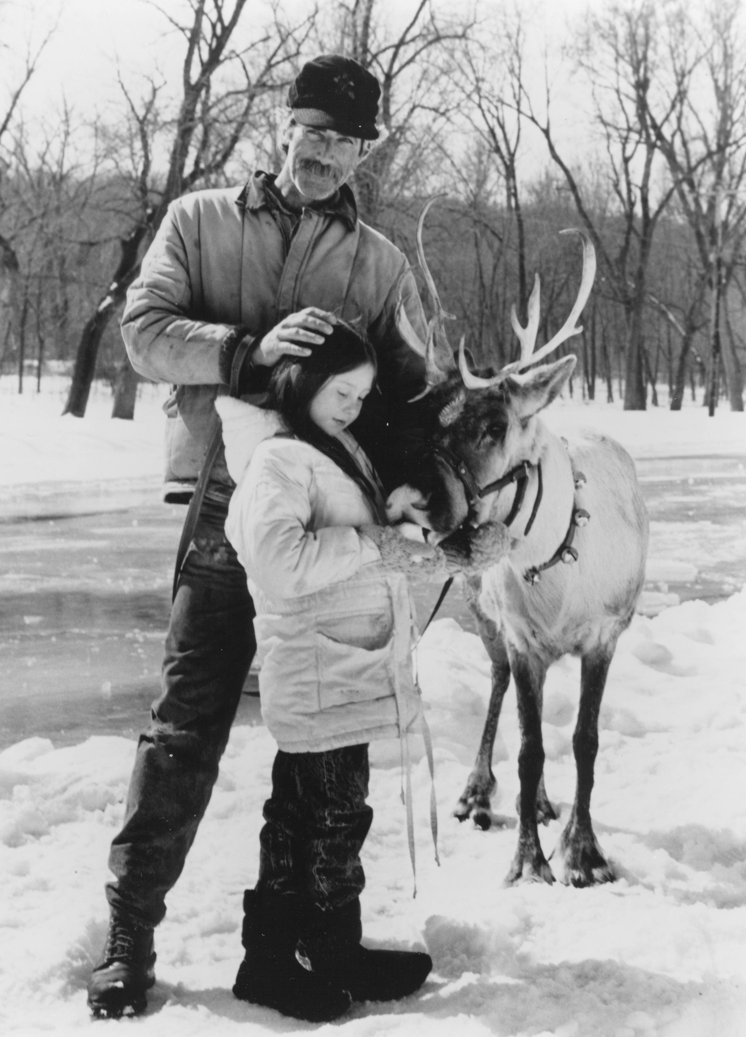 Sam Elliott and Rebecca Harrell Tickell in Prancer (1989)