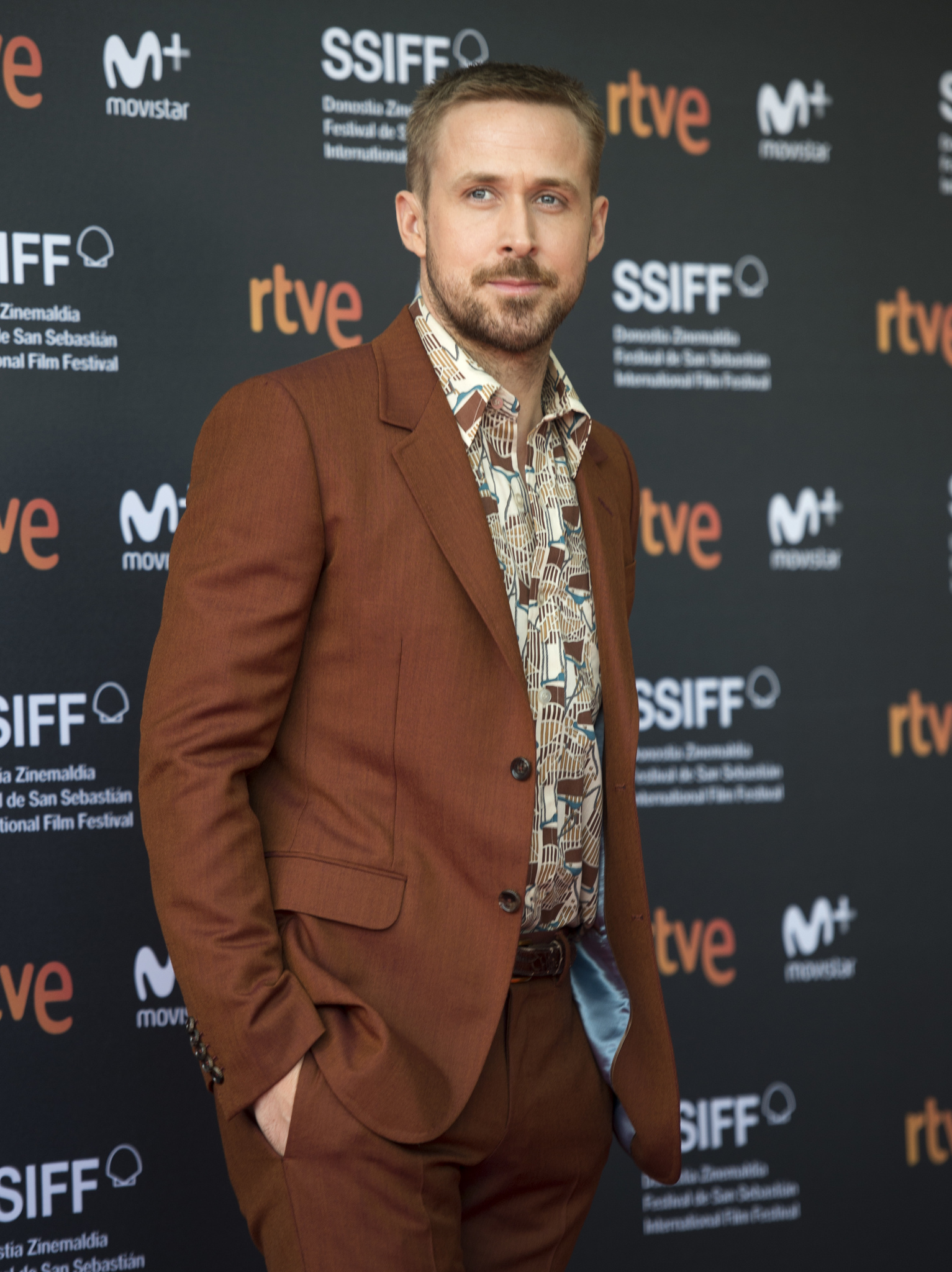 Ryan Gosling at an event for First Man (2018)