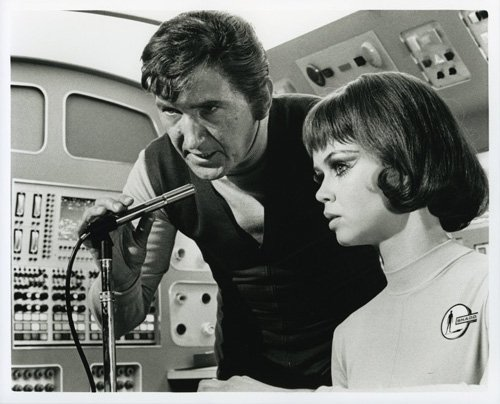Gabrielle Drake and George Sewell in UFO (1970)