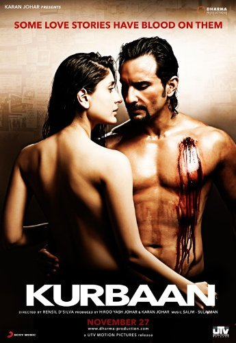 Poster of Kurbaan 2009 Full Hindi Free Download Watch Online In HD Movie Download 720p BluRay
