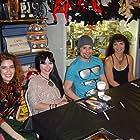 (L to R) Victoria De Mare, Elissa Dowling, Jeff Dylan Graham and Brinke Stevens at BRYAN LOVES YOU DVD signing, 9/23/08