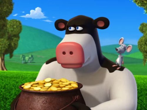 Back At The Barnyard Four Leaf Otis Cop Cow TV Episode 2011