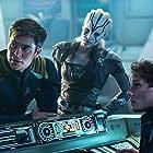 Anton Yelchin, Sofia Boutella, and Chris Pine in Star Trek Beyond (2016)