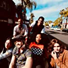 Janel Parrish, Levi Dylan, Carlos PenaVega, Nana Ghana, and Ben Milliken in Mighty Oak (2020)