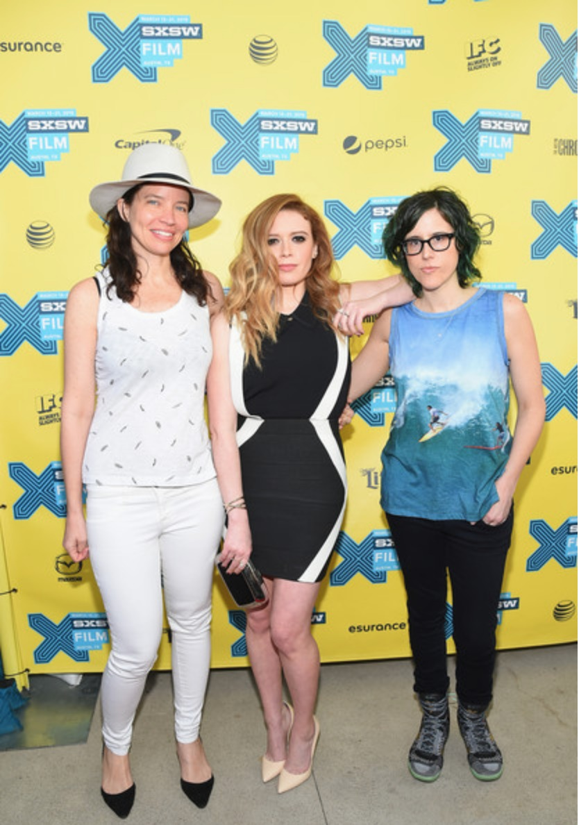 """(L-R) Director Jamie Babbit, actress Natasha Lyonne and screenwriter Karey Dornetto attend the """"Addicted to Fresno"""" premiere during the 2015 SXSW Festival at Topfer Theatre at ZACH on March 14, 2015 in Austin, Texas."""
