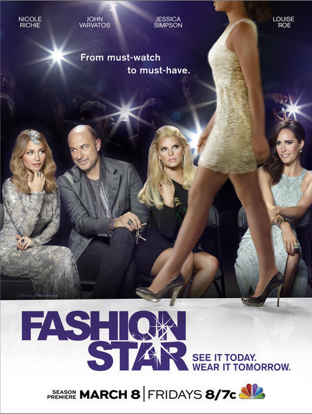 Jessica Simpson, Nicole Richie, John Varvatos, and Louise Roe in Fashion Star (2012)