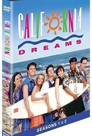 Kelly Packard, Michael Cade, Jay Anthony Franke, Brentley Gore, William James Jones, Jennie Kwan, and Heidi Lenhart in California Dreams (1992)